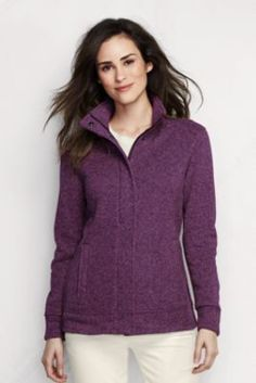 Women's Sweater Fleece Jacket from Lands' End