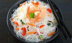 Salade vietnamienne et crevette à l'ail