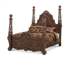 Aico Essex Manor King Poster Bed