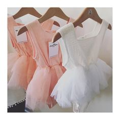 Tutu Romper - white or pink