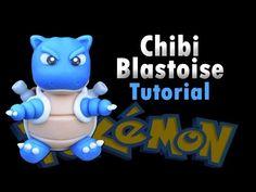 Chibi Blastoise Tutorial Polymer clay / Porcelana fria [Kaizahr Collab] - YouTube