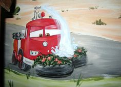 Cars Fire Engine Mural