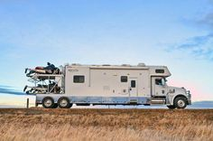 """Looks like the perfect """"winter mobile"""" - business in the front, party in the back! #RV #RVing"""