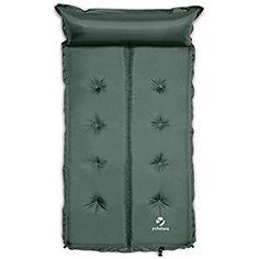 Yukatana Goodsleep 7 Doppel-Luftmatratze Isomatte Luftbett selbstaufblasend mit Kopfkissen für Camping oder Trekking (193 x 102cm, 7cm dick, selbstaufblasend, kleines Packmaß) Grün