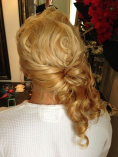 Wedding Hair Half Up www.chmakeupartistry.com