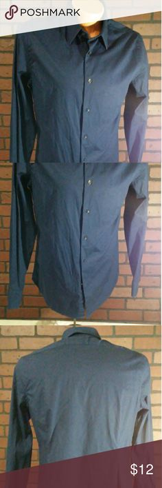 Express fitted men's shirt large Good condition.  No stains or holes. Shirts Dress Shirts