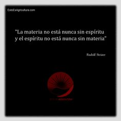 #Tips #Citas #Frases Rudolf Steiner, Movie Posters, Movies, Frases, Pest Control, Agriculture, Quotes, 2016 Movies, Film Poster
