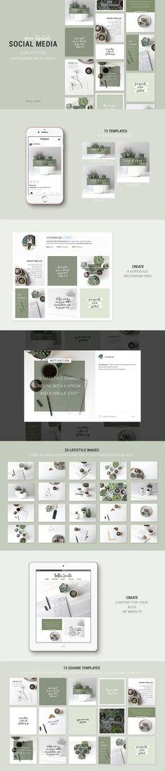 Instagram & Social Media templates by Skyla Design on @creativemarket
