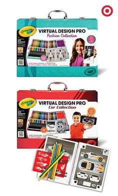 From cars to fashion, see kids bring their virtual designs to life like a pro with Crayola colors and an interactive app. These Crayola Virtual Design Collection sets make an ideal gift for young designers.