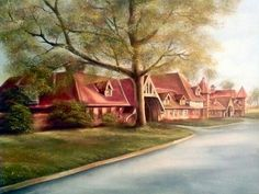Belle Isle Stables / oil on canvas board 16x20