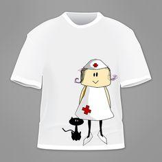 Camiseta enfermera  www.albatrosland.es