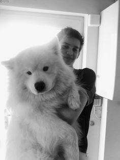 """White fluffy """"lap"""" dog."""
