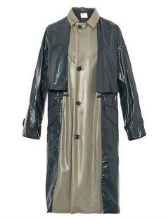 Latex and laminated-nylon trench coat   Toga Archives   MATCHE...