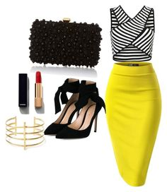 """Untitled #110"" by hillzbabez on Polyvore featuring Gianvito Rossi, Elie Saab, Chanel and BauXo"