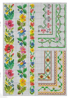 This Pin was discovered by Olg Cross Stitch Rose, Cross Stitch Borders, Cross Stitch Flowers, Cross Stitch Designs, Cross Stitching, Cross Stitch Embroidery, Cross Stitch Patterns, Embroidery Patterns Free, Crochet Stitches Patterns