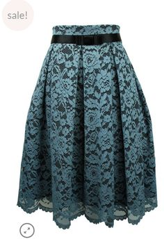 Exquisite Blue Lace Skirt with black bow band detail. Designed and made in  Sydney. a7b807946f09