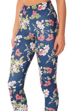 One of our favourite prints, the Gorgeous Garden is all things right with floral. It's sweet and pretty, but not over the top, easy to style, and can work in so many different ways. Rock it with a white blouse for a feminine look or pair it with your fav Navy Leggings, Women's Leggings, Patterned Leggings, Floral Leggings, Women's Fashion Leggings, Black Milk Clothing, Slim Fit Pants, Sport Pants, Printed Pants