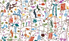 Celebrated artist and paper-cut genius, Rob Ryan AKA Mister Rob collaboration with Paul Smith Costa, Cool Patterns, Print Patterns, Modern Art Artists, Rob Ryan, Illustrator, Cute Illustration, Paul Smith, Artist Art