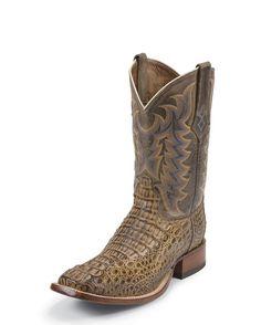 "Men's Tan Vintage Hornback Caiman 11"" Boot"