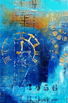 """""""Wreckage"""" original abstract art by Crystal Renee Fine Art. Large abstract art for home."""