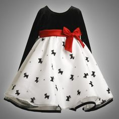 If you are seeking Great Deals on Bonnie Jean TODDLERS 2T-4T BLACK WHITE GLITTER SCOTTY PUPPY DOG ORGANZA Special Occasion Flower Girl Holiday Party Dress ...