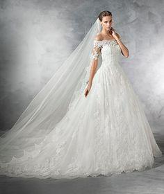 PLEASANT - Brautkleid aus Tüll mit tief angesetzter Taille im Vintage-Stil