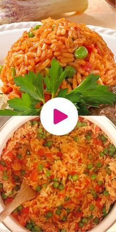 """Djuvec-Reis – so gelingt der serbische Klassiker The Serbian – pronounced """"Chuvash"""" rice – is a spicy rice with peppers and peas. Easy Casserole Recipes, Rice Recipes, Veggie Recipes, Healthy Dinner Recipes, Spicy Rice, Naan, Quick Easy Meals, Quick Snacks, The Best"""