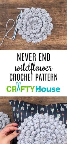 Never End Wildflower Crochet Pattern with written, video and verbal instructions