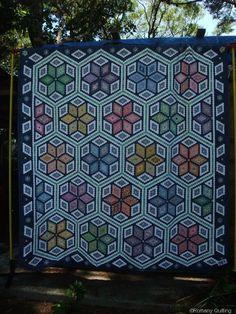 tumbling block hexagon quilt