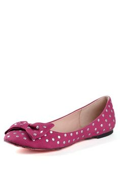 Betsey Johnson Toby Embellished Bow Flat by Fancy Flats on @HauteLook