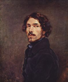 Selfportrait - Eugène Delacroix One of the Premier painters during and after the French Revolution along with David and Ingres.