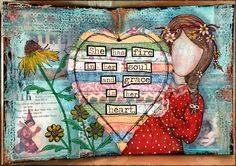 CREATIVITY IS CONTAGIOUS: ART JOURNALING DECOART AND YVONNE BLAIR INKY ART JOURNAL