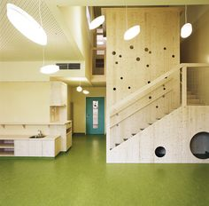 Stairs and walls become spaces for play.