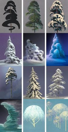 Awesome tree concepts from Frozen, by artist Lisa Keene: