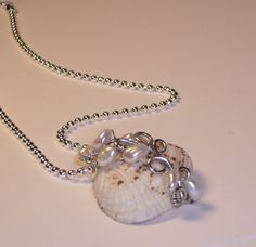 Sea Shell Jewelry Necklace from the  Mermaids Jewel by LaurenKusar, $22.00