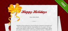 Free holiday card psd template... Holidays is one of the favorite days in the year. Try to give happines to your friends and family with this amazing card. Happy Holiday :) #Card #Business_card #Template #psd #design