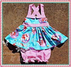Baby, Toddler, Girls Princess Ariel The Little Mermaid Tunic Bloomer Set  by PreciousLilThreads