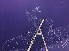 Fresque murale Caddous&Alvarez pour Oceanopolis