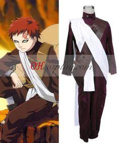 Naruto Gaara 2nd Cosplay Costume Set