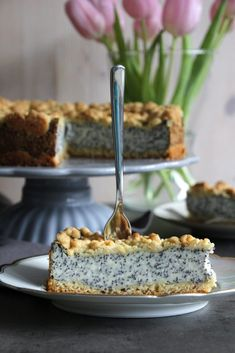 Mohnkuchen mit Pudding und Streuseln Poppy seed cake with pudding and sprinkles Authentic Mexican Recipes, Mexican Food Recipes, Pudding Desserts, Pudding Cake, Banana Pudding, Dessert Recipes, Poppy Seed Cake, Curd Recipe, Polish Recipes