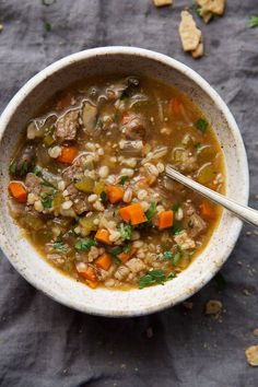 Comforting Beef Barley Soup (Instant Pot) Recipe | Little Spice Jar