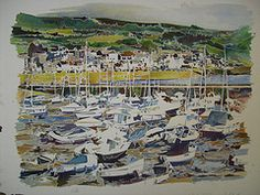 This was one commission I has last year of Lyme Regis and the boats in the harbour