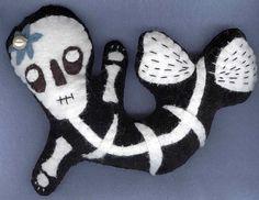 Art: Sumtin' Fishy Gothic Mermaid by Artist Gwen LeBlanc