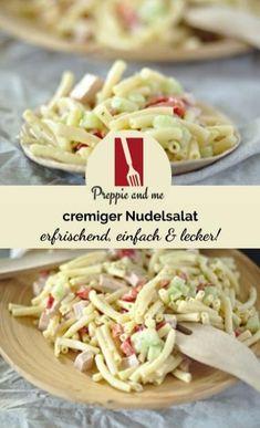 Salat - Salat Tips Creamy Pasta Salads, Creamy Cucumber Salad, Avocado Salad Recipes, Creamy Cucumbers, Avocado Smoothie, Krups Prep&cook, Pasta Salat, Pasta Recipes, Macaroni And Cheese