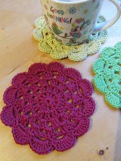 11pcs bunte handgemachte häkeln Baumwolle Spitze Tisch Tischsets Deckchen