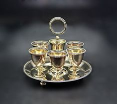 Martin Hall & Co, Silver Plate Egg Epergne, Egg Cup Holder Martin Brothers, Egg Cups, Trinket Boxes, Valentine Gifts, Silver Plate, Tea Pots, Gifts For Her, Place Card Holders, Etsy Shop
