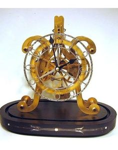 Tourbillon Movement Skeleton Clock With Pendulum