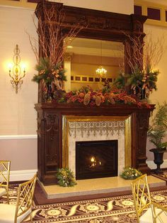 love this botanical / greenery decor