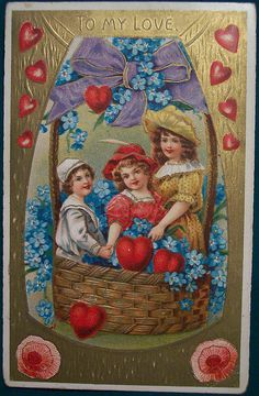 Valentines Greetings, Vintage Valentine Cards, Vintage Cards, Vintage Postcards, Vintage Images, Victorian Halloween, Victorian Valentines, Easter Art, Saint Valentine