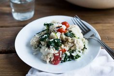 It's easy. It's creamy. And fast, too. Add chicken, spinach, Parmesan and rice for a meal ready in just 30 minutes!